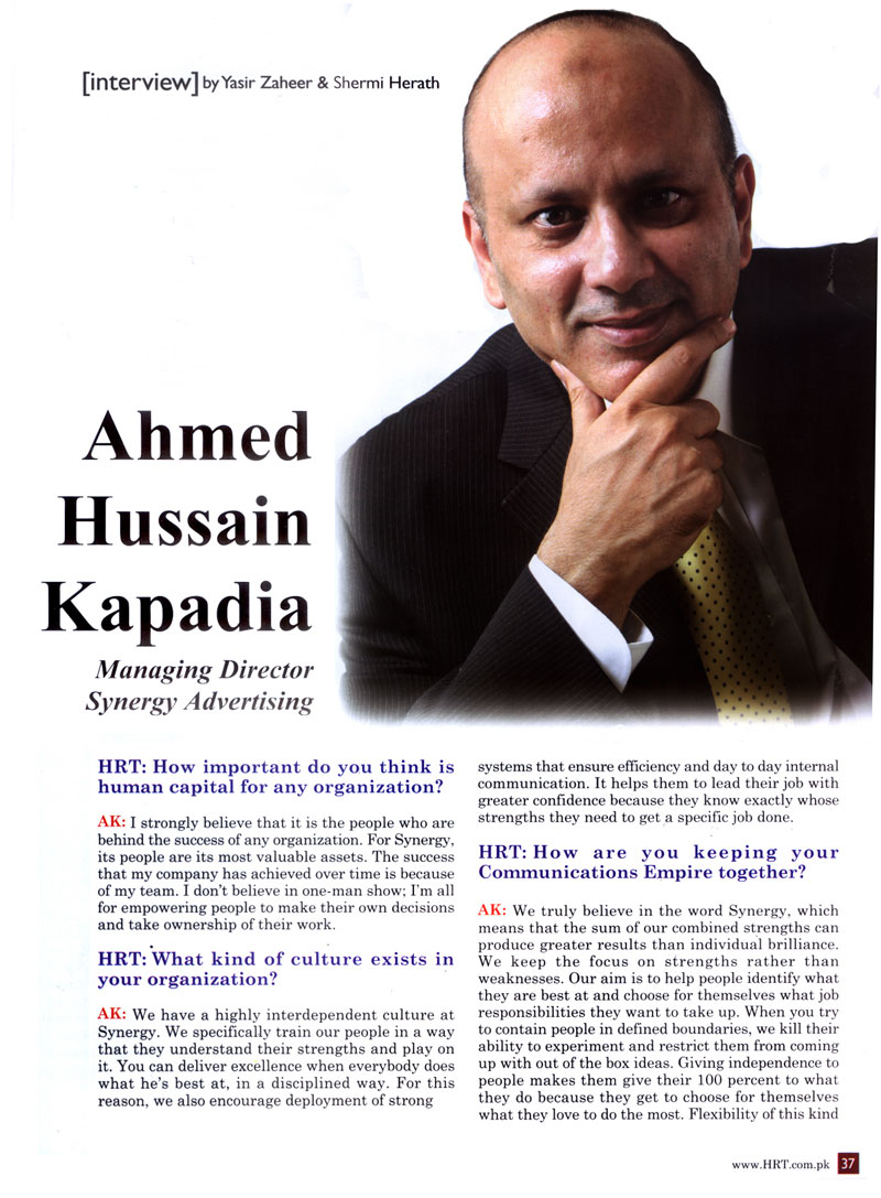 Interview by Yasir Zaheer & Shermi Herath