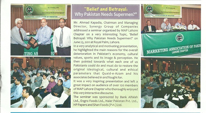 Marketing Association of Pakistan, Lahore Chapter – Newsletter