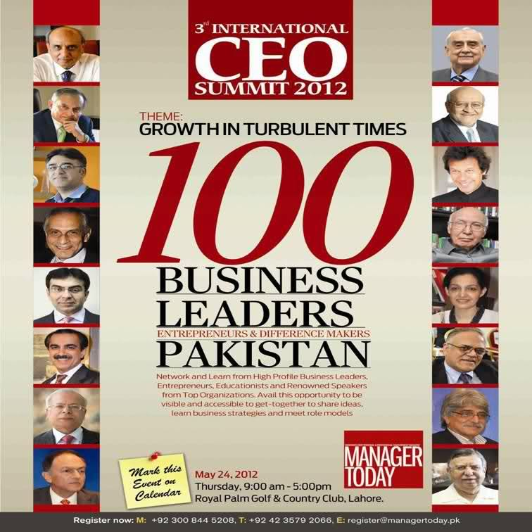 "Manager Today – ""100 Business leaders of Pakistan"""